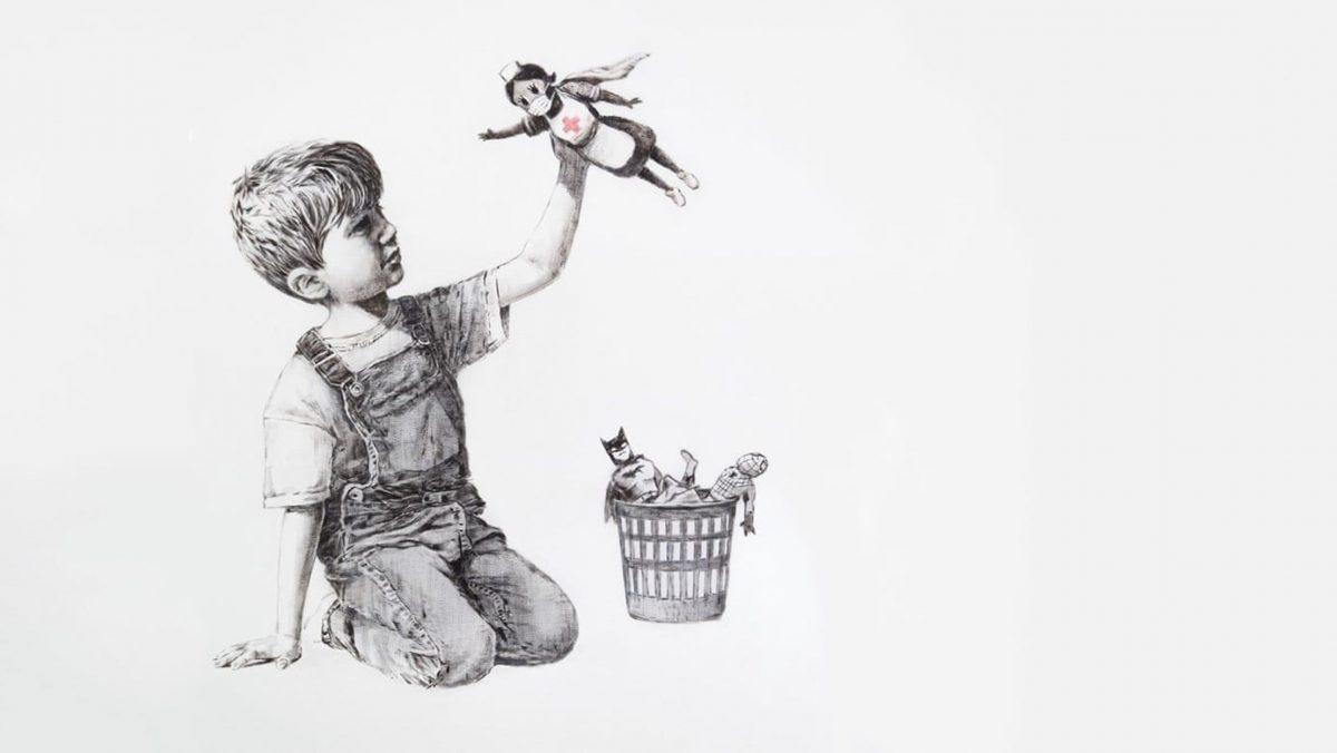 Banksy'nin Grafitiyle İtirazı